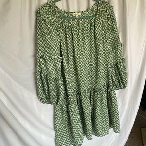 Max Studio dress with 70s print